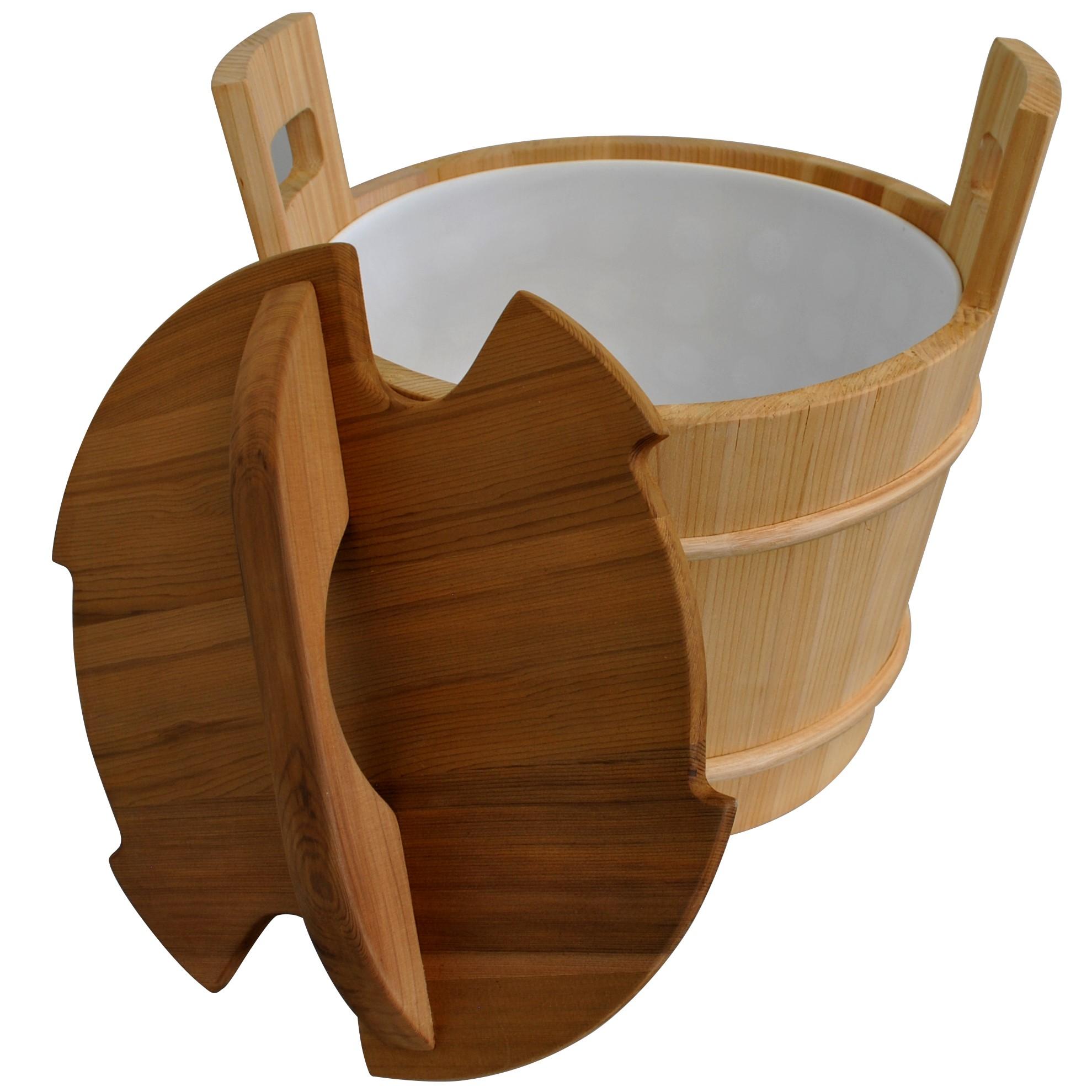 Cedar sauna bucket with lid 18L