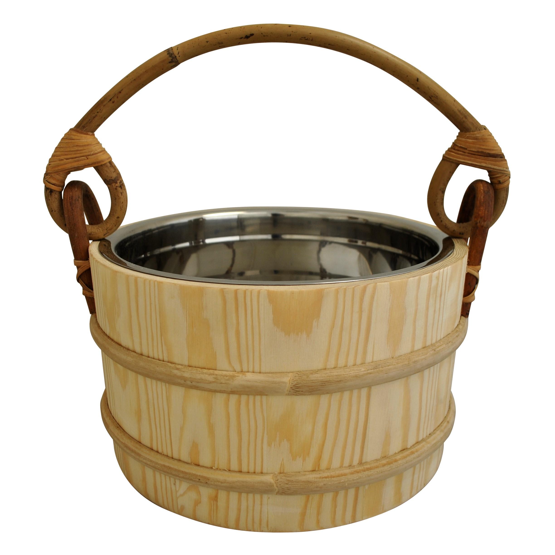 Pine Sauna bucket ss insert