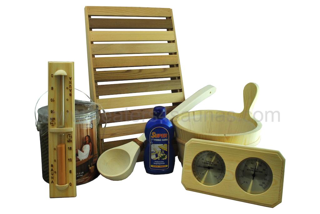 Pine sauna accessory kit