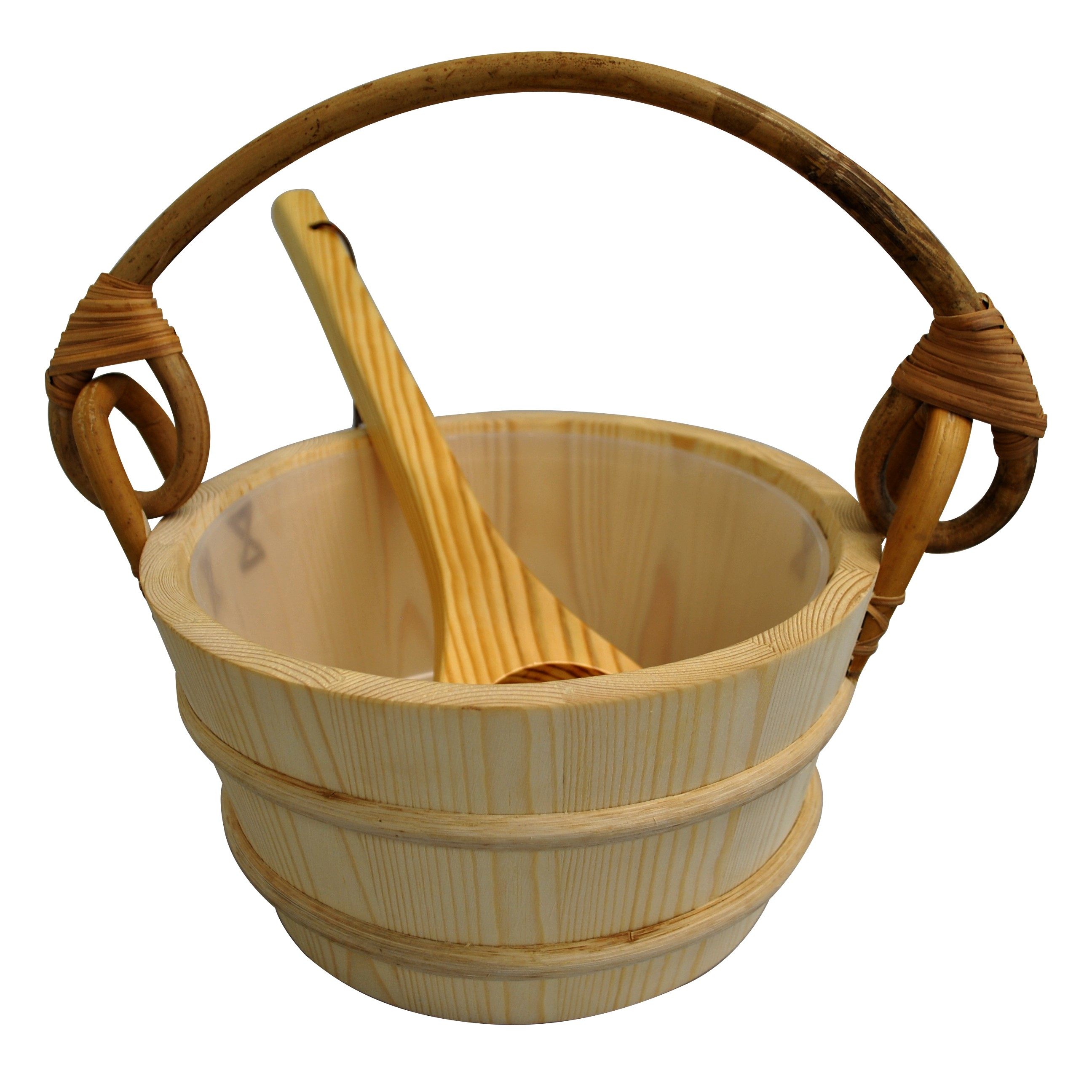 White Pine Sauna Bucket and ladel