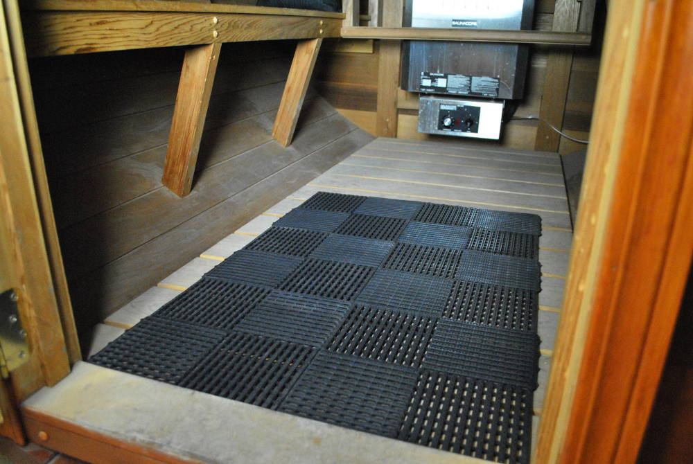 "Interlocking Sauna Floor Tiles 12"" x 12"""