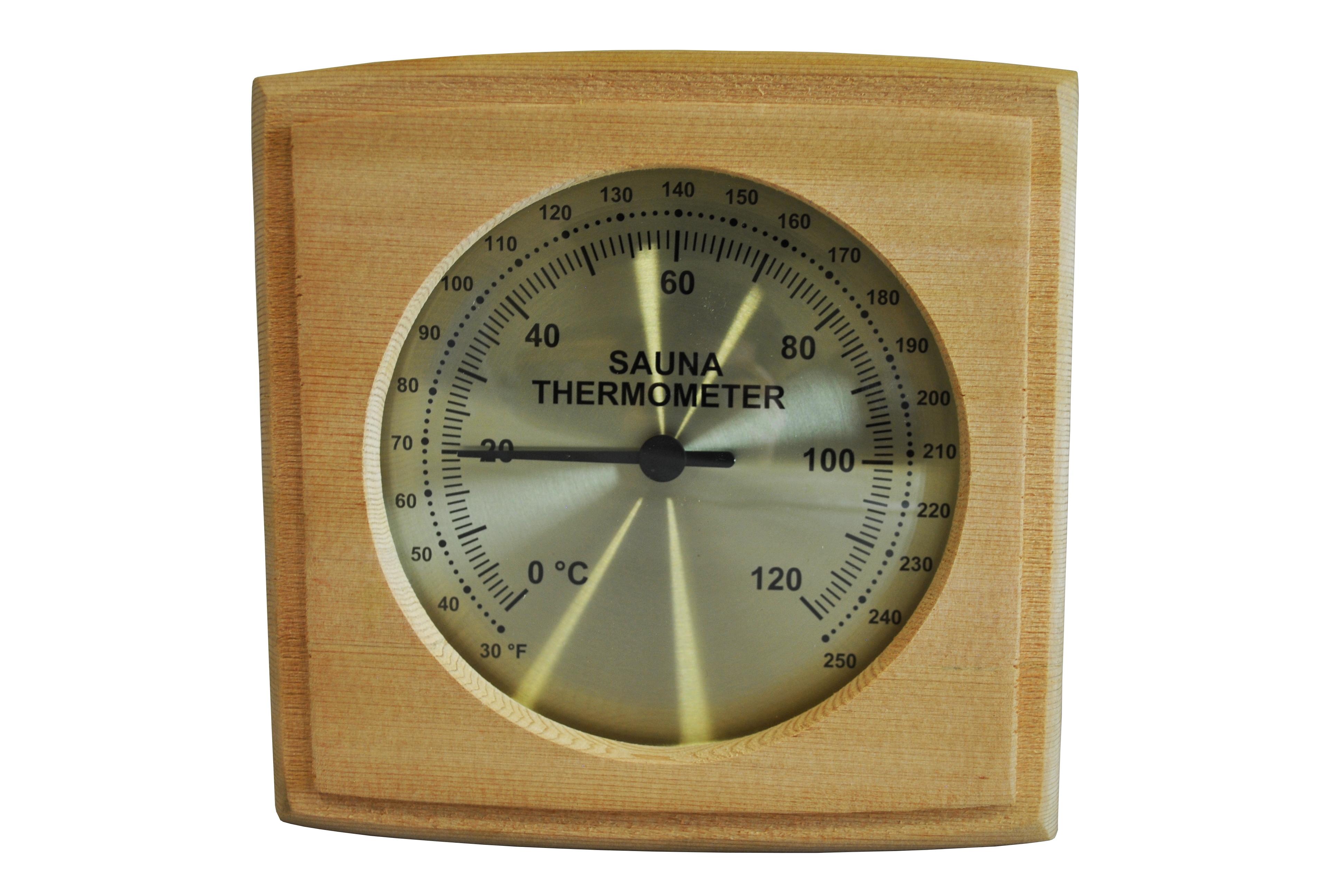 cedar sauna thermometer