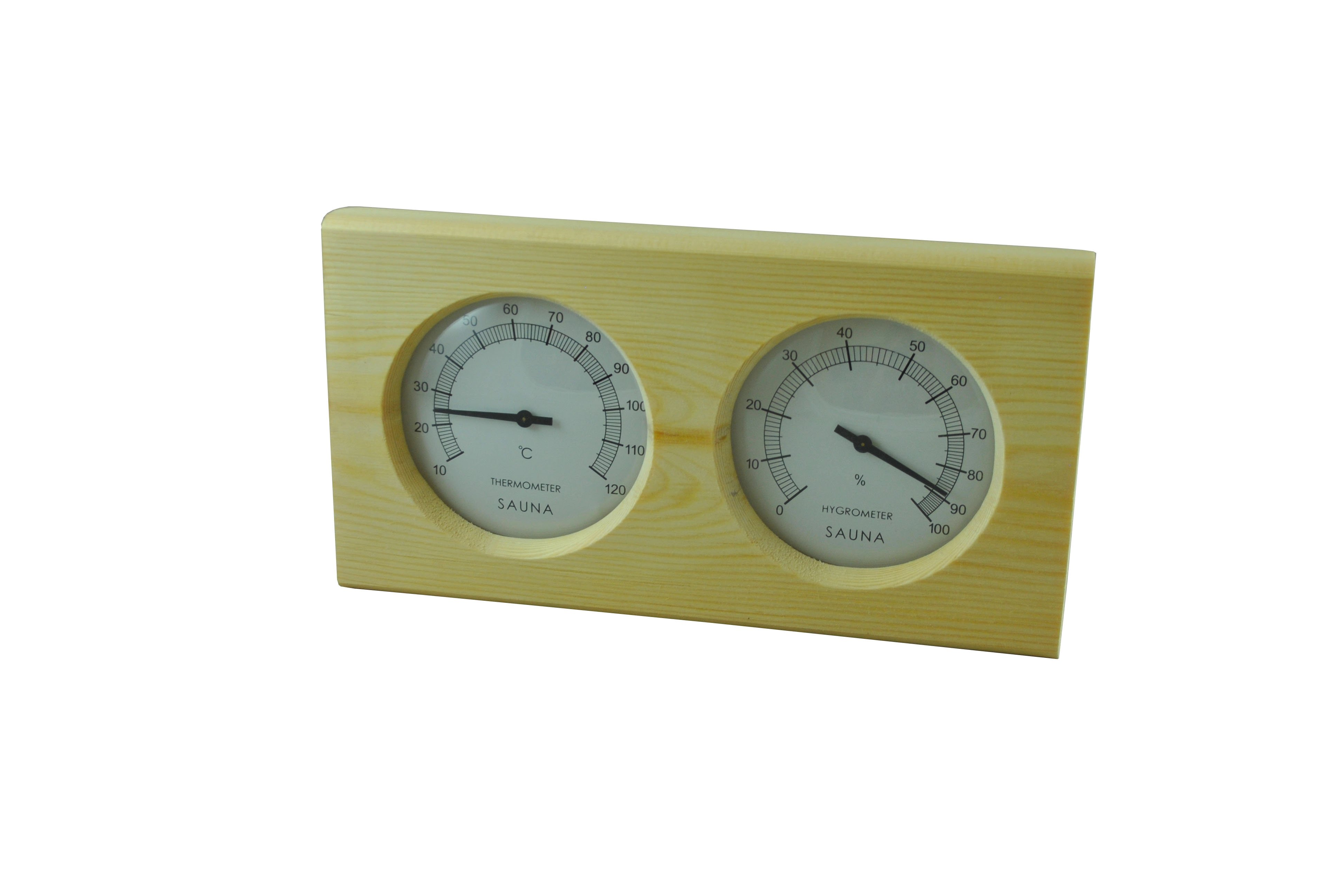 Pine Sauna Thermometer And Hygrometer Celsius Heaters4saunas