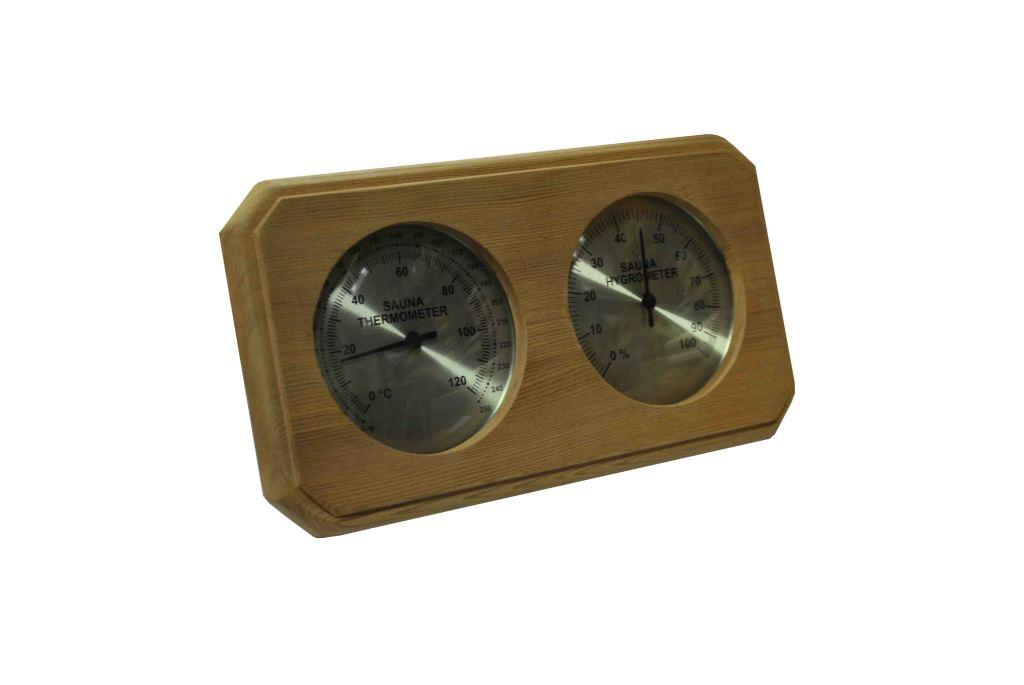 Cedar Sauna Thermometer and Hygrometer