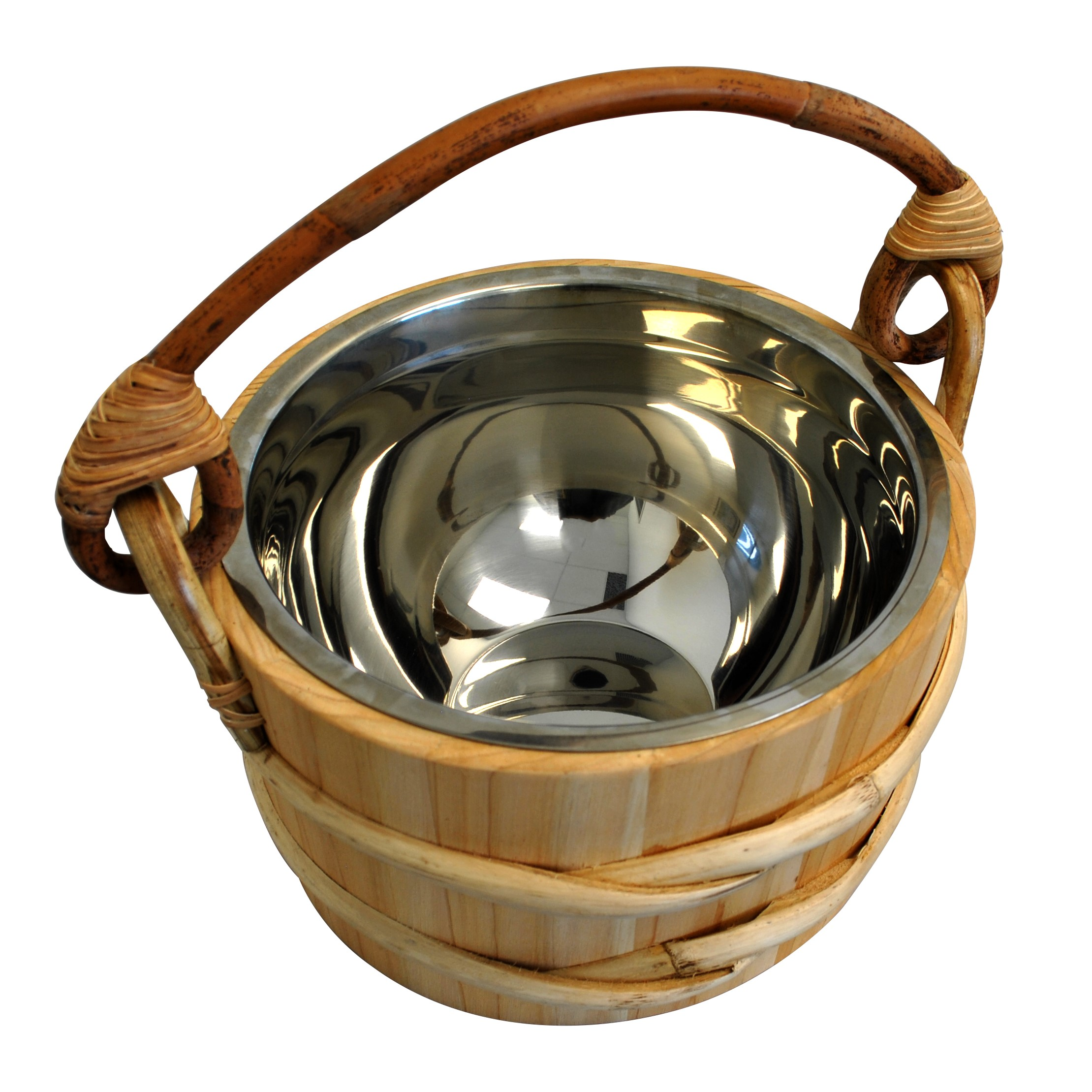 Cedar Sauna Bucket - Stainless Steel Insert - 5L - Click Image to Close